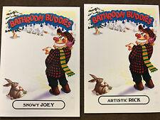 2016 Garbage Pail Kids 4a Snowy Joey 4b Artistic Rick Bathroom Buddies AAAP set