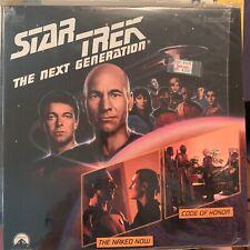 """Star Trek Next Generation Episodes 3 & 4  - 12"""" Laserdisc"""