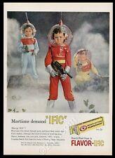 1958 kids in future bubble helmet space suit photo Beech-Nut Gum print ad