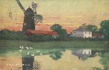 1904 VINTAGE ARKLEY MILL with DUCKS on RIVER POSTCARD - USED, NO STAMP