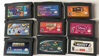 Lot Of 9 Game Boy Advance Games Scrabble Tetris Hockey Pac-Man