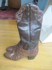 LOVELESS LEATHER  CUSTOM WOMENS TALL COWBOY BOOTS ~BROWN~