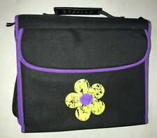 "Notebook 2"" Three Ring Binder Corsage Flower Purple Pencil Case Christmas Gift"