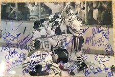 1984 Edmonton Oilers Stanley Cup Champions Team Autographed 12x18 Photo (JSA)
