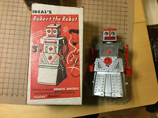 original 1960s IDEAL's ROBERT THE ROBOT version 2 w talking device in BOX