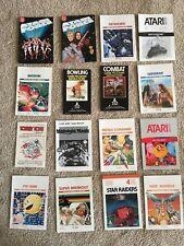 Lot of 16 Atari 2600 Game Manuals and Inserts - Free Shipping!
