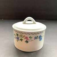 Farberware English Garden Covered Sugar Bowl w Lid 225A Vintage Stoneware 1993