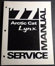 1977  ARCTIC CAT LYNX SNOWMOBILE  SERVICE  MANUAL P/N 0153-120  (321)