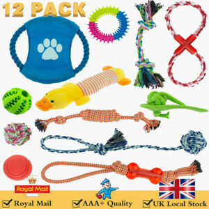 Dog Pet Safety Chew Toys Set Bite-Resistant Knot Puppy Durable Rope Dental Teeth