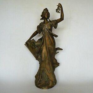 Statue en régule SCIENCES DES ARTS par Auguste Moreau P pendule ou socle H45 cm