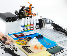 Starter Tattoo Kit 2 Gun Machine Power Supply Set 20 Color Ink Needle