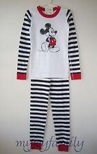 HANNA ANDERSSON Organic Long Johns Pajamas Disney MICKEY Mouse 140 10 NWT