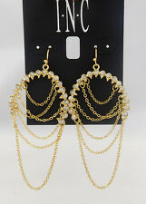 INC International Concepts Gold-Tone Pavé Chain Drop  Msrp $26.5 *NEW WITH TAG*