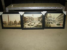 Rome  Verona  Venice 3 Stunning Framed Pictures of Italian Cities Size 40x30cm
