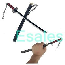 "11"" Bleach Ichigo Kurosaki Slaying Moon Blade Sword Weapon Key Chain"