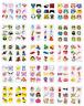 12 Kids Boys & Girls Fun Temporary Tattoos Party Bag Filler Various Themes