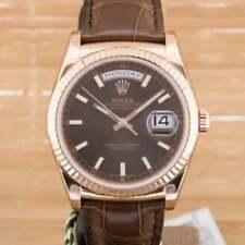 Rolex Genuine Leather Strap Adult Wristwatches