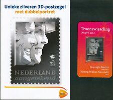 Nederland Troonswisseling 3D zilveren postzegel 2013 euvz
