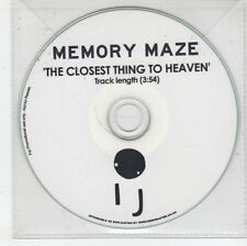 (GN322) Memory Maze, The Closest Thing To Heaven - DJ CD