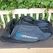 LIFE VENTURE Extra Large Rolling Holdall 2 Wheel Duffle Canvas Cargo Bag 70L