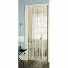 Tassel Cream Hanging String Partition Divider 90x200cm Door Curtain (JA035)