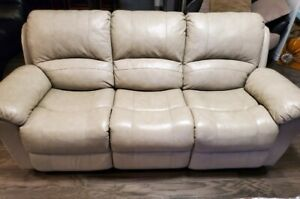 Beige Leather couch set