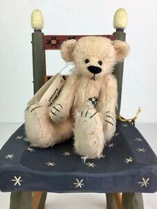 "Deb Canham Teddy Bear ""Gertie the Lady of Bag"" Denizens of Honey Hill 5""T LE NOS"