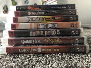 Guitar Hero Games Lot of (7) PS3