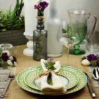 "VILLEROY & BOCH FRENCH GARDEN SET 7 DINNER PLATES 10 1/2"" & 3 SALAD PLATES 8 1/4"