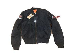 stella artios alpha industries promo black bomber flight jacket Size M Medium