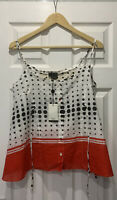 BNWT Paul Smith Black Range Polka Dot Blouse Camisole Top Sz 44 Vintage Rare