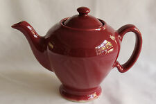 McCormick Teapot with Lid Maroon By Hall Baltimore USA Marked