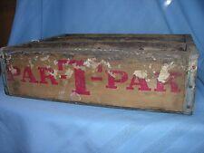 PAR T PAK nehi 1975 soda pop bottle wood wooden crate box Buffalo New York