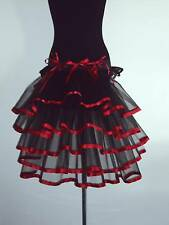 Burlesque Tutu Skirt BuStle Red Black Belt Sexy Plus Size Cosplay Halloween