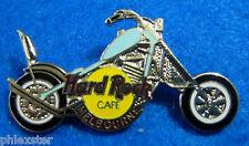 MELBOURNE AUSTRALIA SKY BLUE CHOPPER BIKE MOTORCYCLE Hard Rock Cafe PIN