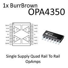 1x OPA4350 Single Supply RailToRail Quad OpAmp SO14 BurrBrown On Tape OPA4350UA
