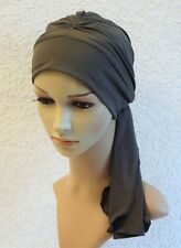 Turban hat with ties, chemo head wear, full head coverage, alopecia, hair loss