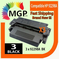 Compatible HP 92298 98A Black Toner Cartridges 3 Black