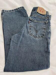 LEVI'S 550 Blue Jeans Denim Children's Size 11 Slim 23 1/2 X 25 1/2 Relaxed Slim
