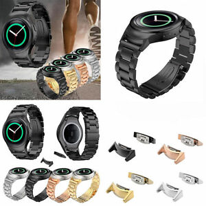 Stainless Steel Bracelet Watch Band+Connector for Samsung Galaxy Gear S2 SM-R720