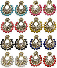 Jwellmart Indian Traditional Bollywood Colorful CZ Chandelier Fashion Earrings
