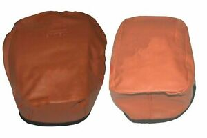 Fits Royal Enfield Classic Embossed Front Rear Seat Cover Tan Faux Leather ECs