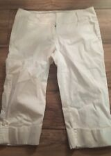 Express Womans Cropped Capris Size 4 Pants White