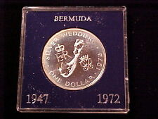 1972 Bermuda Large Proof Silver Crown-Wedding Ann./Map-Nice Holder
