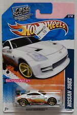 HOT WHEELS 2011 NIGHTBURNERZ NISSAN 350Z #2/10 WHITE