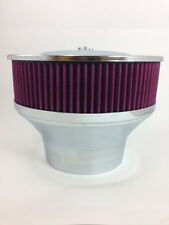 "Tall Velocity Stack With Air Filter Washable 5 1/8"" Neck & 4 1/4"" Adapter 9"" Dia"