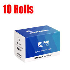 10 Rolls New Kentmere pan 100 35mm Harman 135-36EXP B&W Film Fresh Fresh 2023