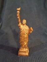 Statua Di Libertee Replica Souvenir Oro Plastica Vintage New York Antico