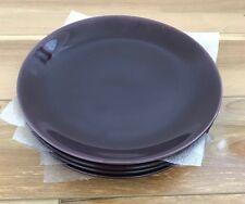 6 X IKEA FARGRIK Dark Lilac/eggplant 21cm Lunch Side Plates Färgrik Purple