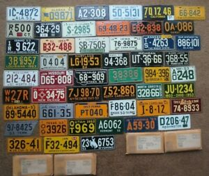 1953 / 1954 Wheaties Cereal Miniature Mini Bike State Metal License Plate Tag